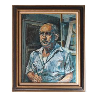 Ben Wilks Painting, Self Portrait