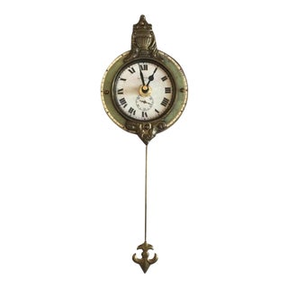 Green Pendulum Clock