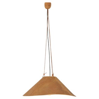 "Pendant Lamp ""Zanotl"" in Cork by Wilhelm Zannoth for Ingo Maurer, Germany, 1970s For Sale"