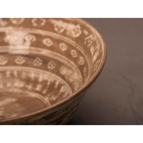 Contemporary French Hand Thrown and Decorated Earthenware Bowl For Sale In Houston - Image 6 of 6