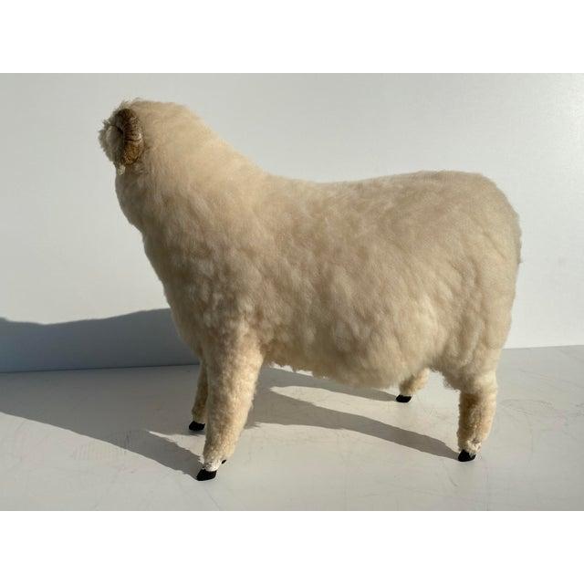 Vintage Sheep Sculpture Footrest/Sculpture For Sale - Image 4 of 11
