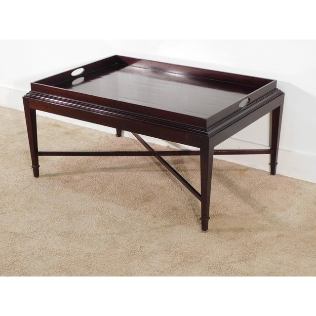 Modern Barbara Barry for Baker Furniture Company Java Finish Coffee Table For Sale - Image 3 of 10