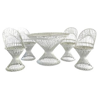 Russell Woodard Fiberglass Patio Set, S/5 For Sale