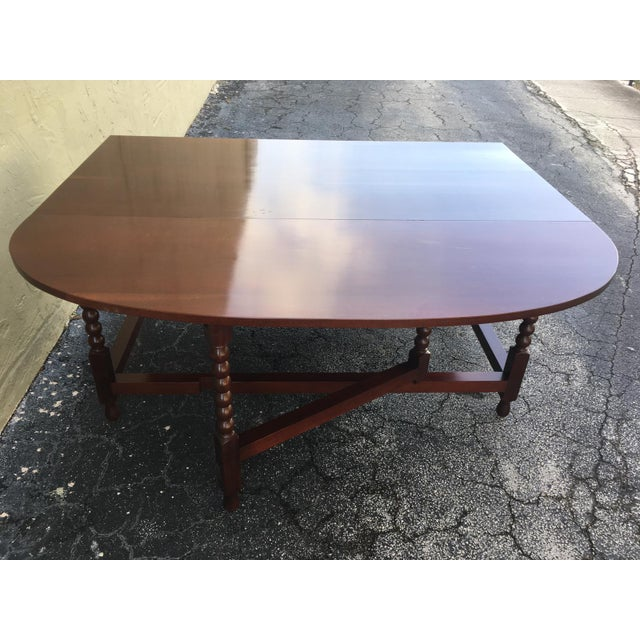 American Sheraton Cherry Acanthus Carved Drop-Leaf Table, Circa 1820 For Sale - Image 11 of 12