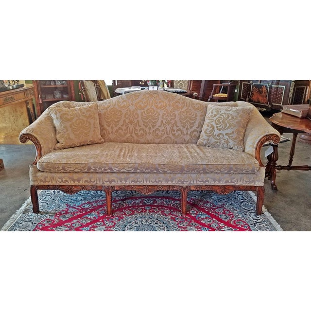19c Chippendale Style Camel Back Sofa For Sale - Image 11 of 12