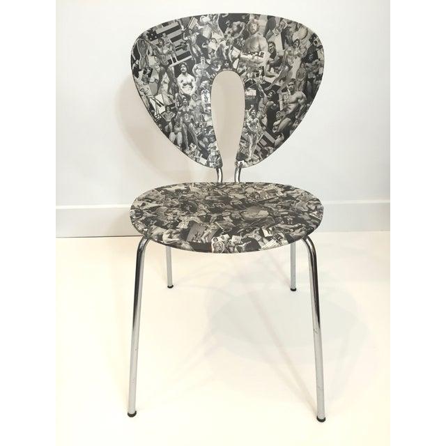 Bodybuilder Decoupage Modernist Chair - Image 2 of 11