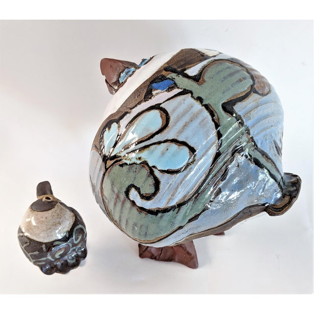 1980s Mid Century Modern Studio Pottery Seagull Sculptures - 2 Pieces For Sale In Miami - Image 6 of 13