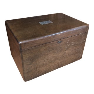 1910s Antique Walnut Humidor For Sale