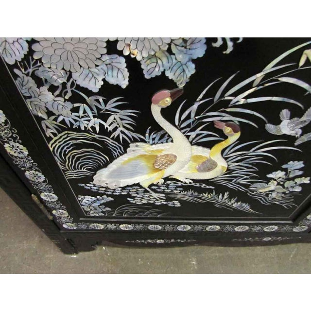 Asian Sideboard With Glass Top For Sale - Image 4 of 10