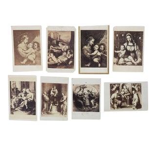 Antique Collection Grand Tour Madonna Art Photographs - Set of 8 For Sale