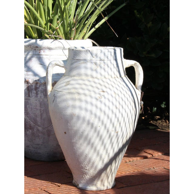 Whitewashed Grecian Style Terra Cotta Olive Jar For Sale In Mobile - Image 6 of 7