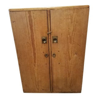 1880 Antique Pine Cabinet/Chest For Sale