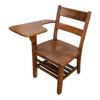 1940s Antique Wooden School Desk Chair For Sale