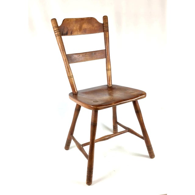 Early 18th Century Antique Myles Standish Line Wood Chair For Sale - Image 13 of 13