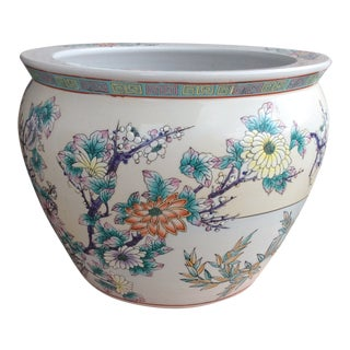 Vintage Fish Bowl Planter For Sale