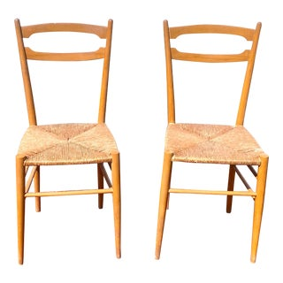 1950's Gio Ponti Styled Chairs - a Pair For Sale