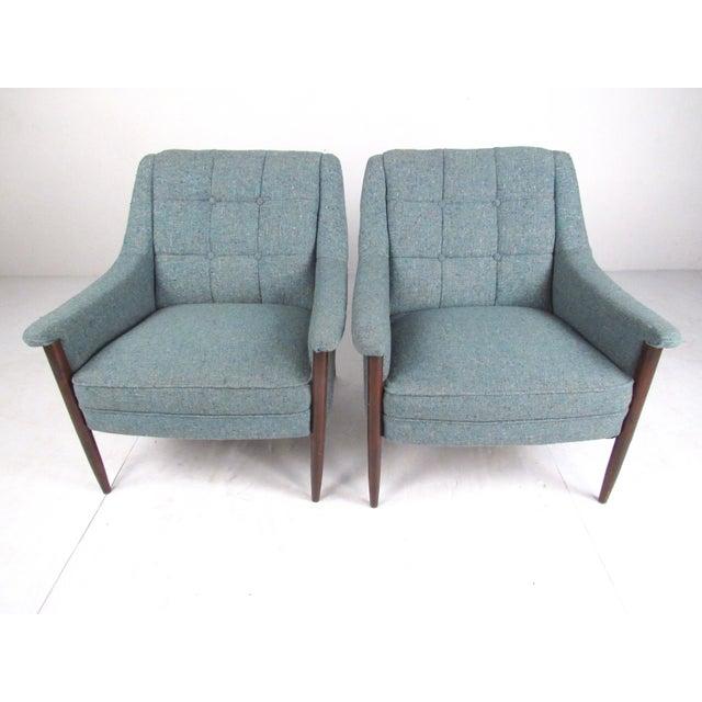 Danish Modern Pair Danish Modern Lounge Chairs For Sale - Image 3 of 13