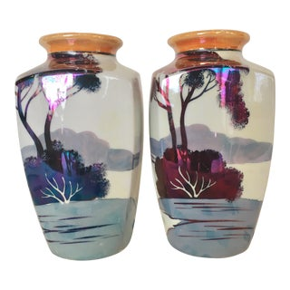 Chinoiserie Vases, Pair For Sale