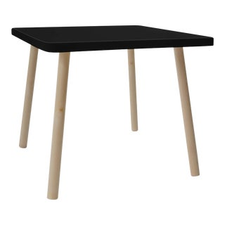 "Tippy Toe Small Square 23.5"" Kids Table in Maple With Black Finish Accent For Sale"
