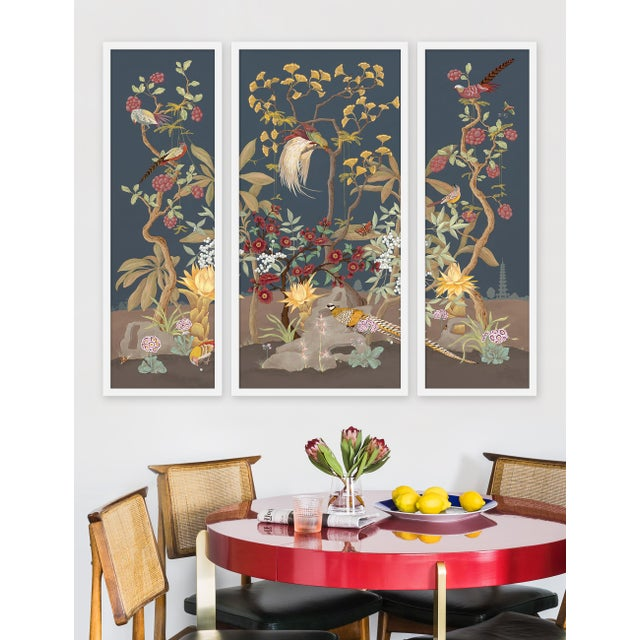 """Allison finds inspiration for her """"Modern Chinoiserie"""" works in vintage scientific illustration, gardens and..."""