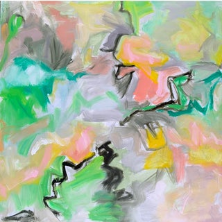 """""""Mountain Laurel"""" by Trixie Pitts Large Abstract Expressionist Oil Painting For Sale"""