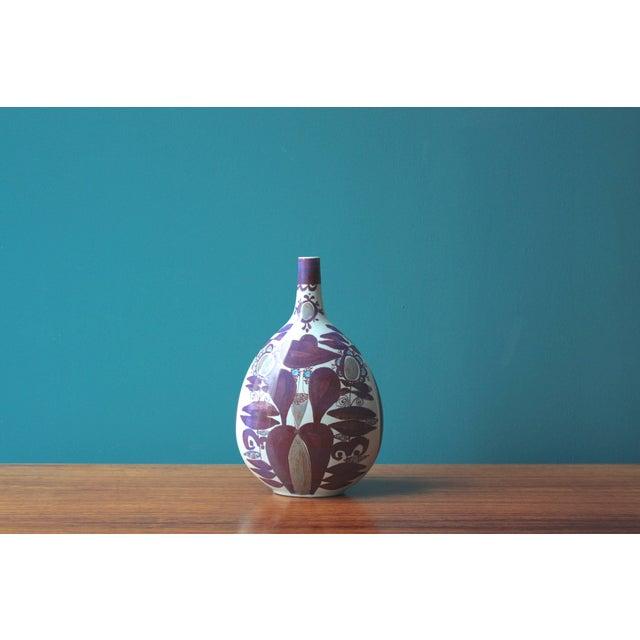 Ceramic Faience Bottle Vase by Kari Christensen for Royal Copenhagen For Sale - Image 7 of 7