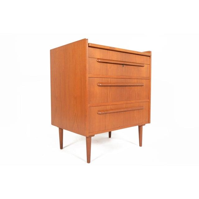Danish Modern Teak Vanity Dresser - Image 10 of 10