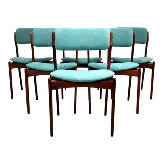 Danish Modern Rosewood Chairs by Erik Buch for Odense Maskinsnendekeri-Set Of 6 For Sale