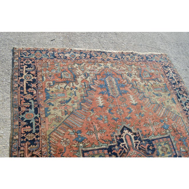 "Antique Persian Heriz Rug - 6'10"" X 9'11"" - Image 3 of 6"