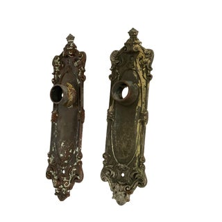 Antique Traditional Door Plates - a Pair For Sale