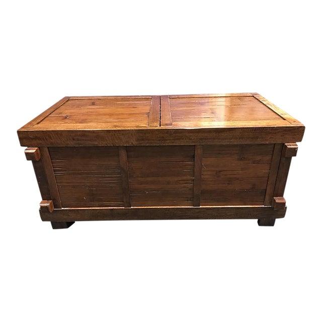 Vintage Sliding Top Trunk Table For Sale