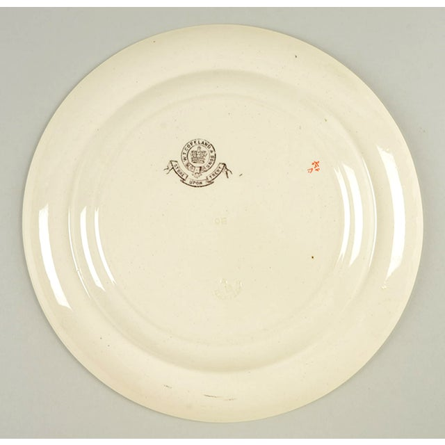 Red Spode Canton Dinner Plate - Set of 8 For Sale - Image 8 of 9