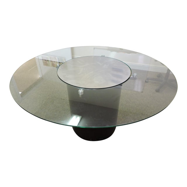 Glass & Wood Dining Table - Image 1 of 3