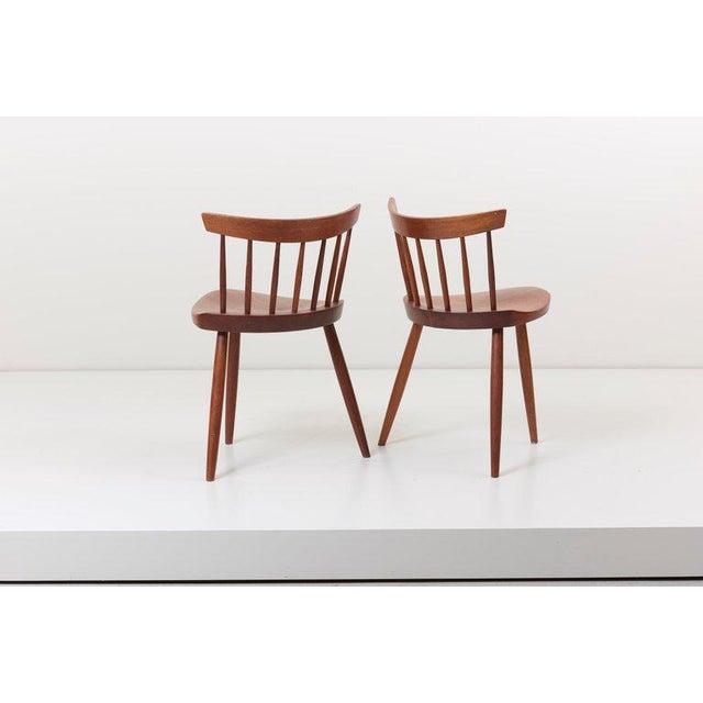 Mid-Century Modern Pair of George Nakashima Studio Mira Nakashima Mira Chair in Walnut For Sale - Image 3 of 10