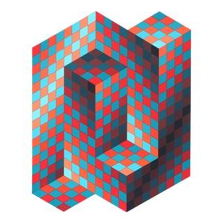 Victor Vasarely, Gestalt, OP Art Serigraph