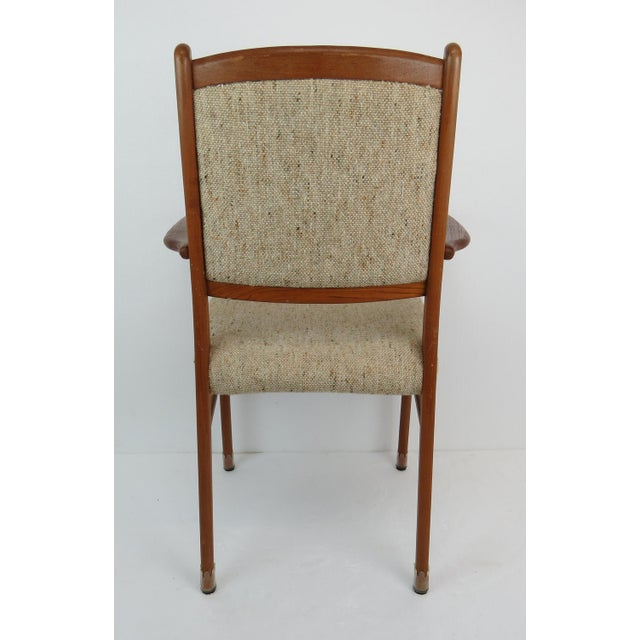 1960s Sculptural Mid-Century Modern Danish Teak Dining Chairs - Set of 4 For Sale - Image 10 of 13