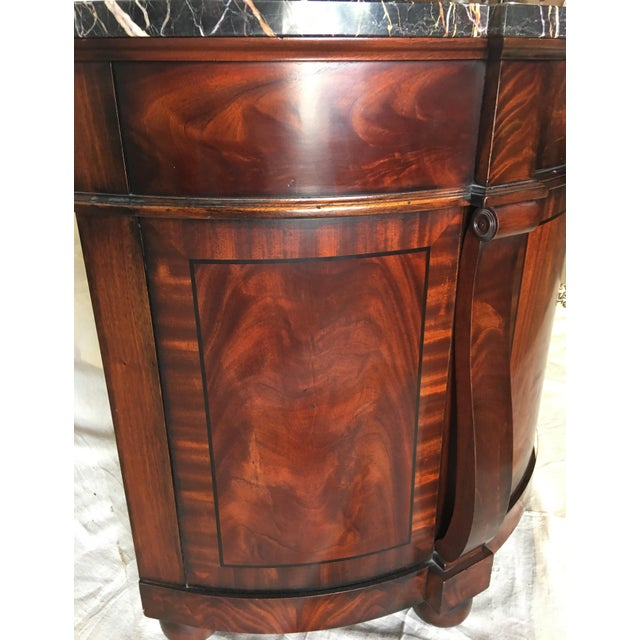 Henredon Natchez Demilune Console With Marble Top For Sale - Image 9 of 11