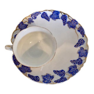 Vintage Lefton Tea Cup & Snack Plate