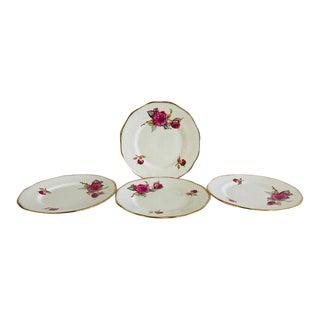 Vintage 1980s Floral Elizabethan English China Salad Plates - Set of 4 For Sale