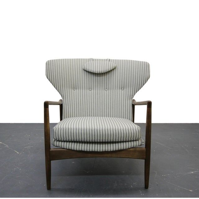 Mid Century Danish Wingback Lounge Chair by IB Kofod-Larsen - Image 3 of 9