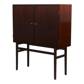 Ole Wanscher Tall Mahogany Cabinet For Sale
