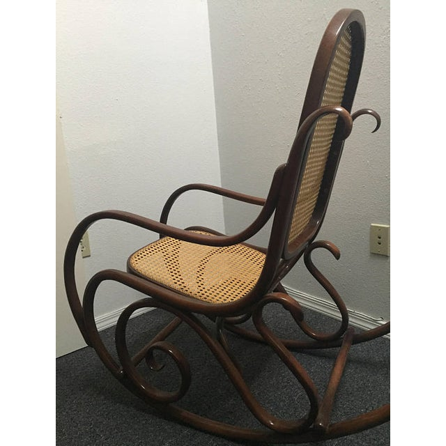 Well known Bentwood Cane Back Rocking Chair in the Style of Michael Thonet  VH44