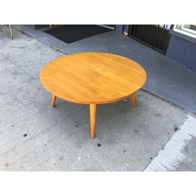 The Big Ball Coffee Table: Conant Ball Round Birch Coffee Table