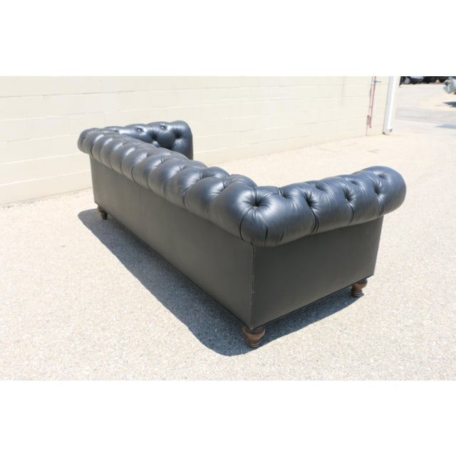 Black Tufted Chesterfield Sofa - Image 7 of 11