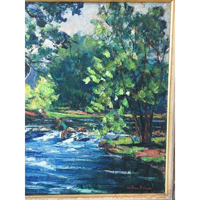 Maine River Landscape Painting by William Fisher For Sale - Image 4 of 10