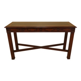 Henkel Harris Chippendale Mahogany Console Table For Sale