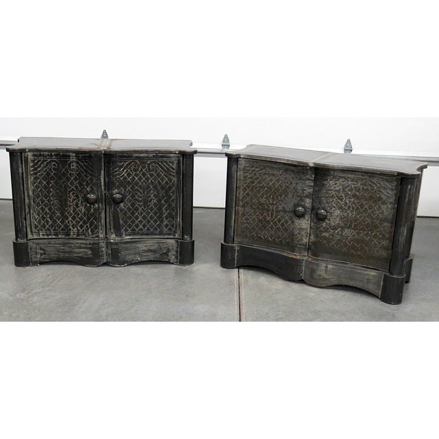 Mid-Century Modern Metal Clad Cabinets - a Pair For Sale - Image 10 of 10