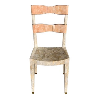Vintage Maitland Smith Tessellated Marble Bow Chair For Sale