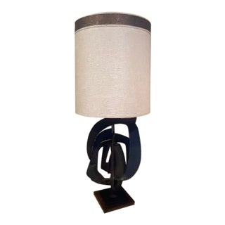 1960s Sculptural Brutalist Steel Table Lamp by Harry Balmer for Laurel For Sale