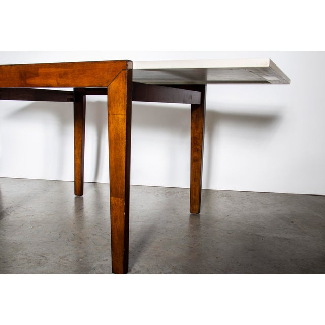 1970s Contemporary Wood Dining Table and Chairs Set For Sale - Image 5 of 10